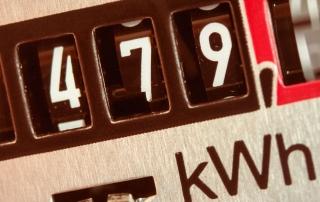 Stromzähler misst elektrischen Strom