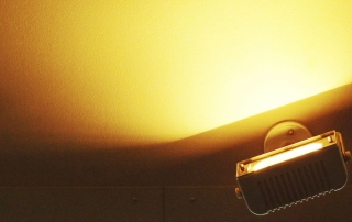 Indirekte Beleuchtung durch Strahler
